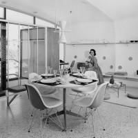 The Monsanto House of Future, Monsanto Chemical Company in collaboration with MIT and Disney corp., 1957. University Archives, Departement of Special Collections, Washington University Libraries.